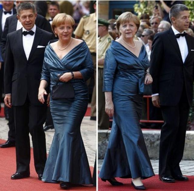 В 2012-м Ангела пришла в старом наряде на открытие Байрейтского фестиваля, посвященного Рихарду Вагнеру. Тогда местные журналисты с легкостью вычислили, что в том же самом синем платье и с тем же жемчужным колье на шее фрау Меркель уже открывала Вагнеровский фестиваль в Байрейте – в 2008 году.