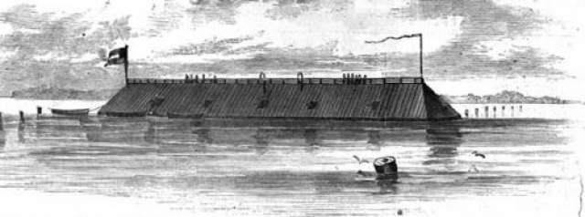 """6. Шутка с """"Джорджией"""" Броненосец """"Джорджия"""" был построен на верфях Конфедерации и спущен на воду в 1863 году. менее чем через два года южане затопили, чтобы он не попал в руки северян."""