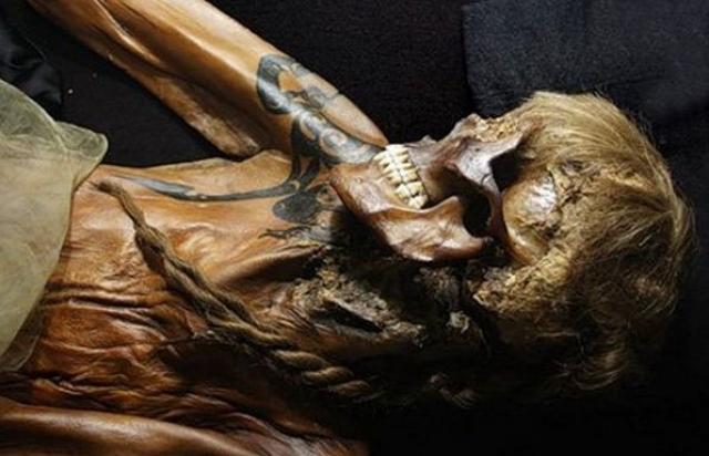 Археологи считают, что принцесса Укока была членом Пазырыкского племени с гор Сибири, представители которого были убеждены в том, что именно татуировки помогают людям находить друг друга в загробной жизни.