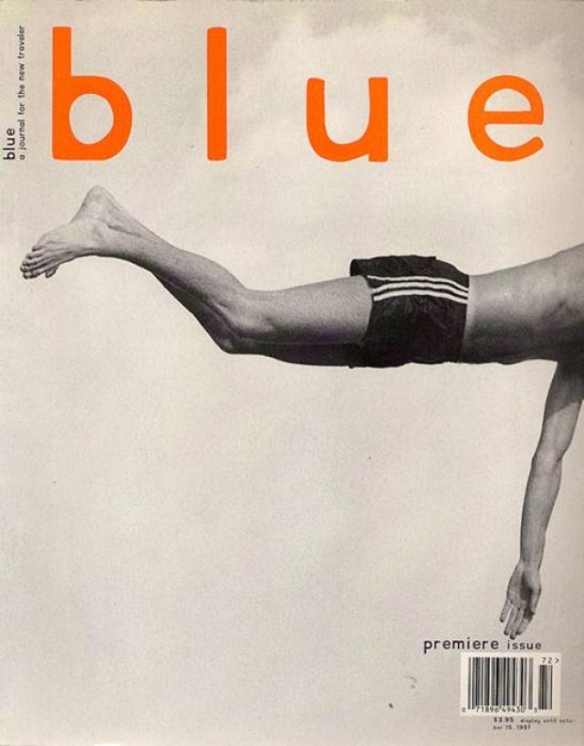 """Blue, октябрь 1997. Обложка с """"плывущим"""" человеком стала """"лицом"""" первого в мире журнала об активном отдыхе."""