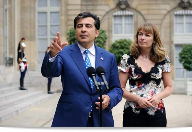 Познакомилась с Михаилом Саакашвили 1993 году во Франции. В том же году они поженились в Нью-Йорке. В 2016 году оказалась под подозрением в организации торговли человеческими органами, но дело никто не расследовал. По сей день замужем за Мишико, несмотря на свалившиеся на него проблемы.