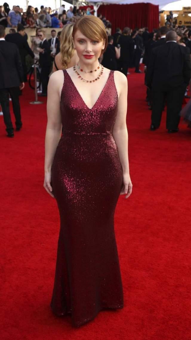 Брайс Даллас Ховард посетила красную дорожку SAG Awards Sunday в довольно бюджетном наряде от Dress the Population.