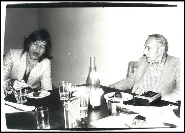 Мик Джаггер с писателем Уильямом Берроузом