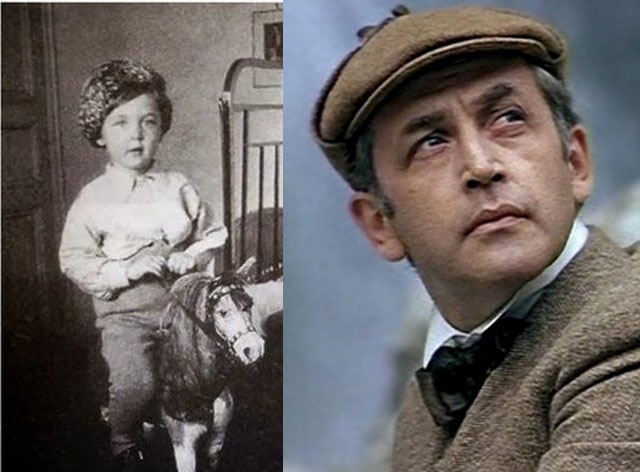 Таким в детстве был выходец из актерской семьи, будущий Шерлок Холмс Василий Ливанов .