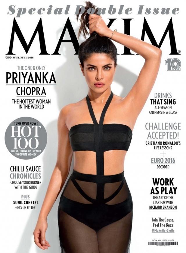 А вот выпуск индийского Maxim вызвал бурю возмущения из-за отфотошопленной подмышки Приянки Чопры.