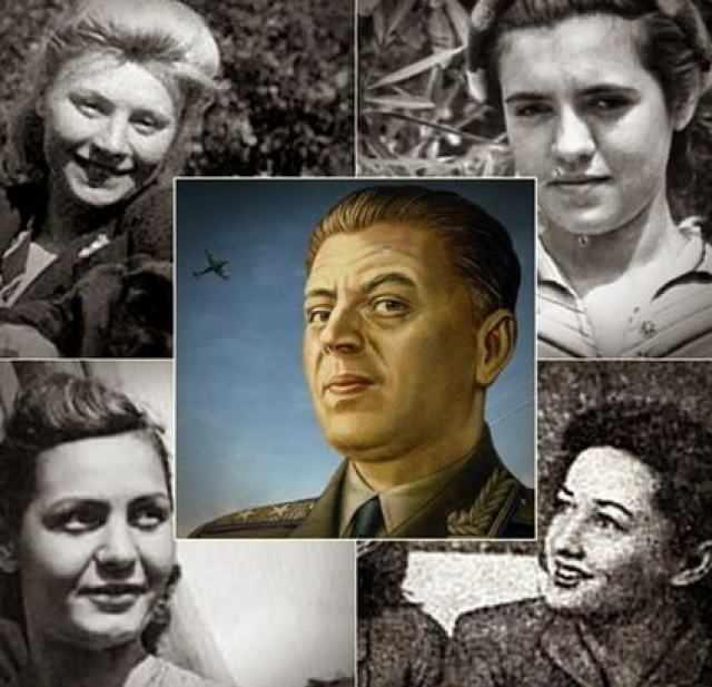 Василий Сталин был фактически женат четыре раза, имел четверых собственных детей, не считая усыновлённых детей его жён от прежних браков