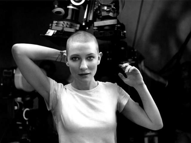 """Кейт Бланшетт. Австралийская актриса побрилась для съемок в немецком фильме """"Небеса""""."""