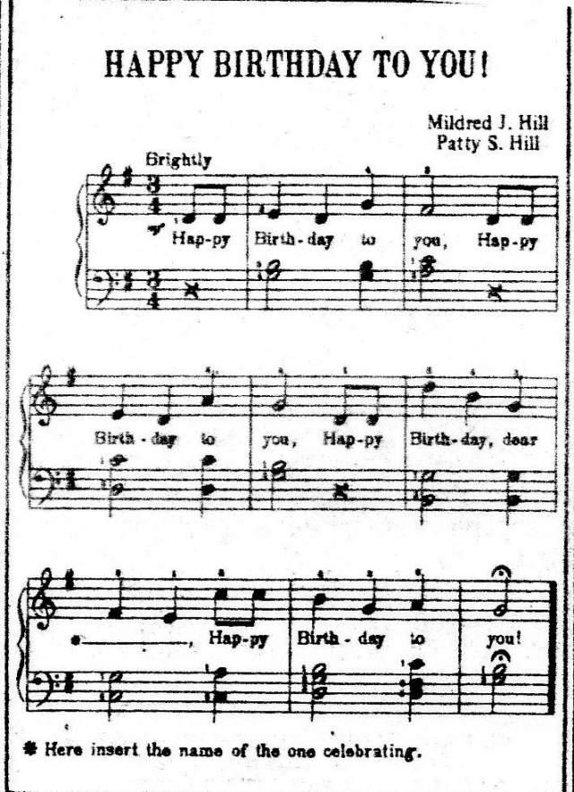 """В 1935 г. авторские права на песню """"Happy Birthday to You!"""" закрепила за собой компания """"Clayton F. Summy"""", а авторами они вписали других людей. Милдред и Патти подали в суд, но дело проиграли."""
