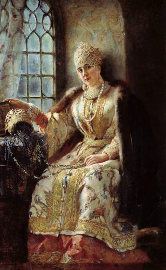 Первую (и, как считается, самую любимую) жену, дворянку Анастасию Захарьину, по слухам, отравили.