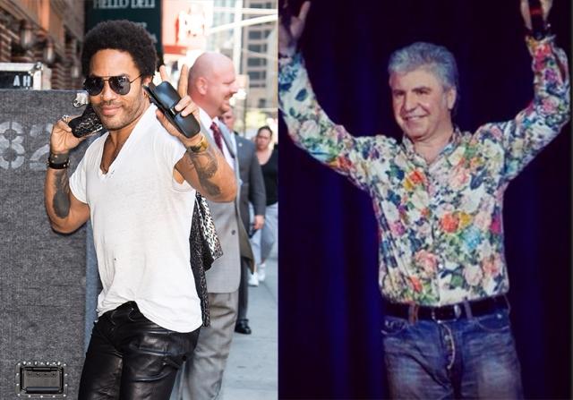 """Ленни Кравиц и Сосо Павлиашвили (53 года). Горячий грузин явно выглядит """"прохладнее"""" американского рокера."""