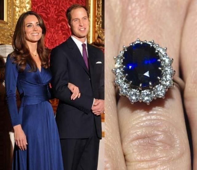 В ноябре 2010 года, в Кении, под жарким африканским солнцем, принц вручил Кейт обручальное кольцо с сапфиром, принадлежавшее его покойной матери - принцессе Диане.
