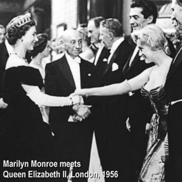 Мэрилин Монро и королева Елизавета ll.