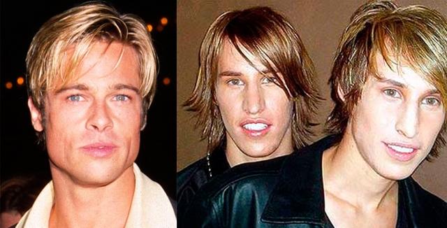 """Все это было сделано в рамках реалити-шоу MTV """"Я хочу лицо знаменитости"""". Братья из Аризоны искренне считали, что сходство с Питтом откроет им путь к славе и блестящей карьере."""