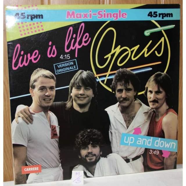 """Opus. Австрийская поп-рок-группа стала известна публике благодаря хиту 1984 года """"Live is Life"""". Тогда на электрогитаре был Эвальд Пфлегер, на клавишах - Курт Рене Плиснир, за ударные отвечал Гюнтер Грасмук, а вокалистом был Гервиг Рюдисер."""