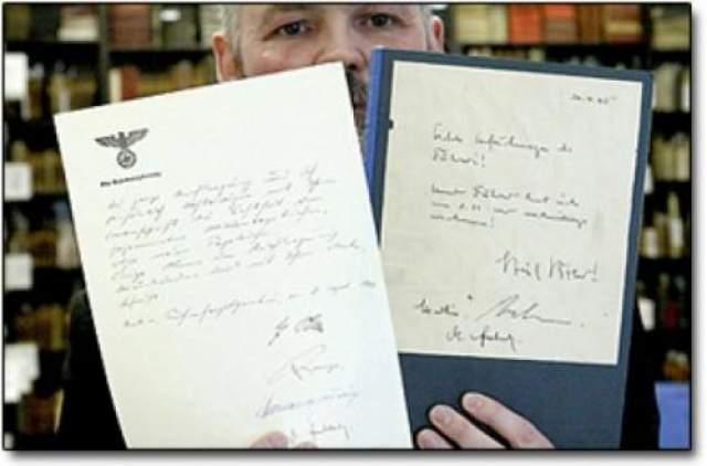 """Однако на самом деле """"дневники"""" были написаны известным мистификатором Конрадом Куяу, а утверждения о том, что они якобы были найдены в обломках разбившего в апреле 1945 года под Дрезденом немецкого самолета и затем тайно переправлены в ФРГ из ГДР, оказались ложью."""