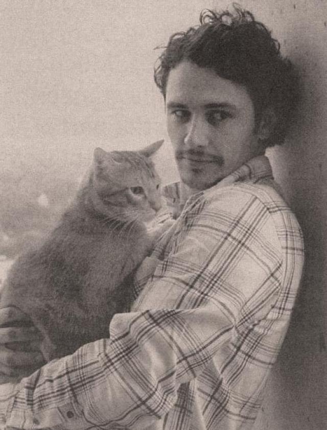 Джеймс Франко. Актер - большой кошатник.