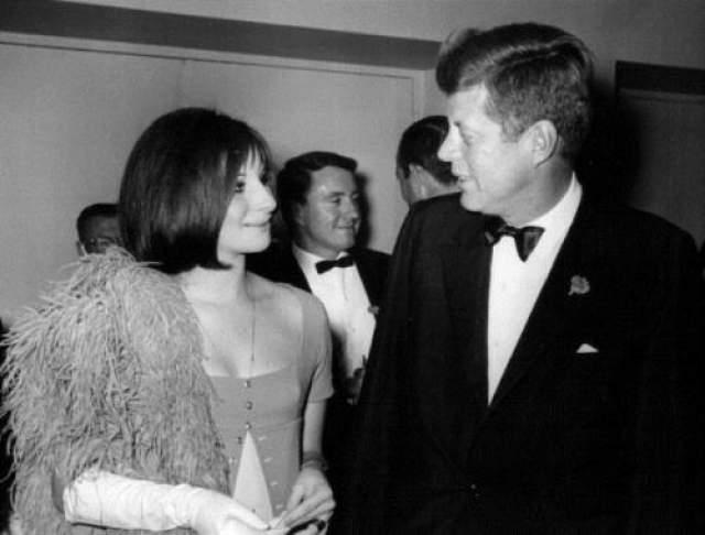 Джон Кеннеди и Барбара Стрейзанд