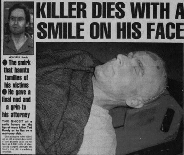 Теда Банди казнили на электрическом стуле во Флориде.