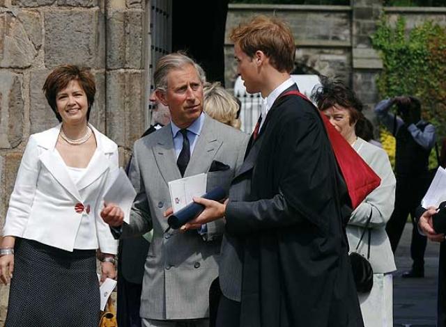 После церемонии Кейт и Уильям присутствовали на праздничном обеде вместе со своими семьями.