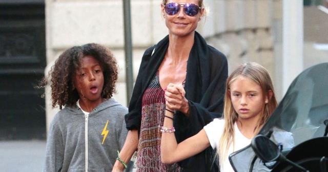 Дочка Хайди Клум Лени , к сожалению, не унаследовала идеальных черт лица, как у матери.