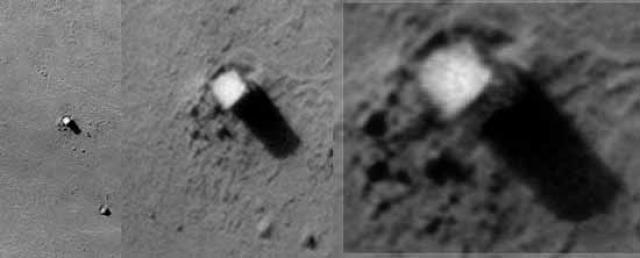 """""""Монолит"""" на Фобосе. На марсианском спутнике находится очень загадочный объект, названый """"Монолит"""", высотой примерно 76 метров. Первым обратил на него внимание астронавт NASA Эдвин Юджин Олдрин, вторым ступивший на Луну в 1969 году."""