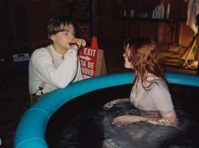 """Кадр со съемок фильма """"Титаник"""" Джеймса Кэмерона."""