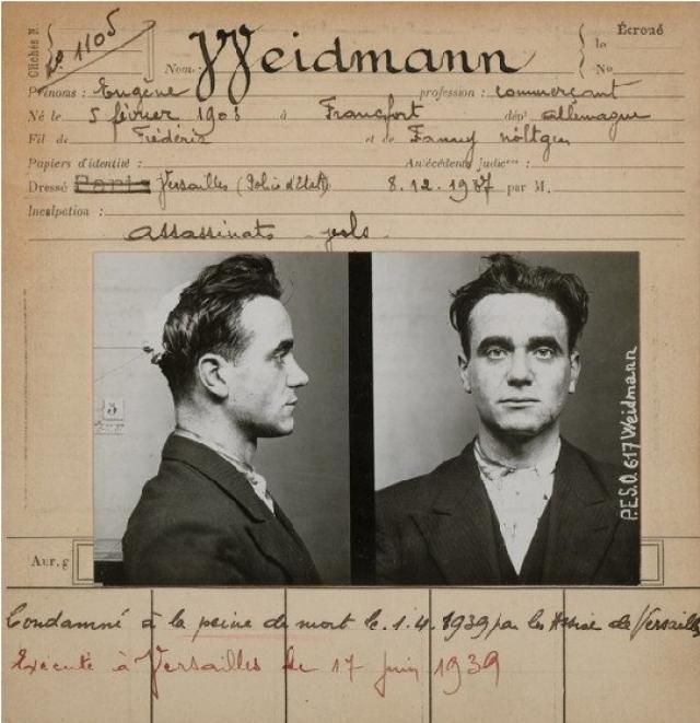 """Пять дней спустя Вейдманом был убит агент по недвижимости Раймон Лесобр, показывавший """"состоятельному"""" клиенту виллу в Сен-Клод. В результате Вейдман разбогател еще на 5000 франков."""