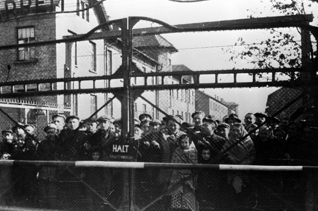 """Большинство заключенных Освенцима фашисты до прихода советских войск отправили пешком на запад (впоследствии такие эвакуации назвали """"маршами смерти"""")."""
