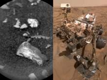 Curiosity сфотографировал на поверхности Марса странный блестящий предмет