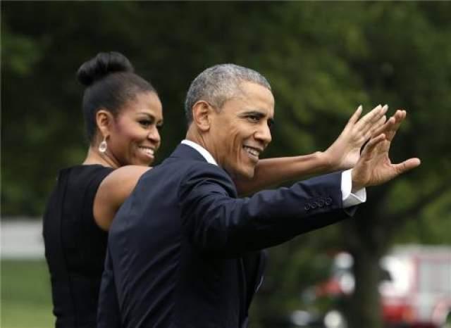 Президент США с супругой в 2015 году.