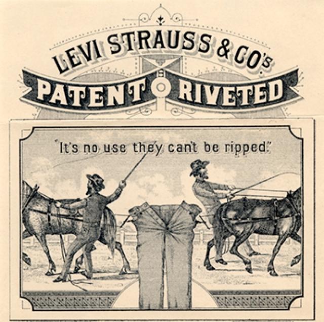 """Название джинсы получили именно вслед за этим материалом: еще в XVI веке ткачи Генуи километрами продавали практичную и крепкую ткань, сработанную из котона, льна и шерсти — торговцы, не мудрствуя лукаво, называли ее """"джин"""" — """"генуэзская""""."""
