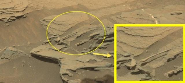30 августа 2015 года марсоход Curiosity снял скальное образование, похожее на ложку. По версии NASA, это всего лишь природный объект.