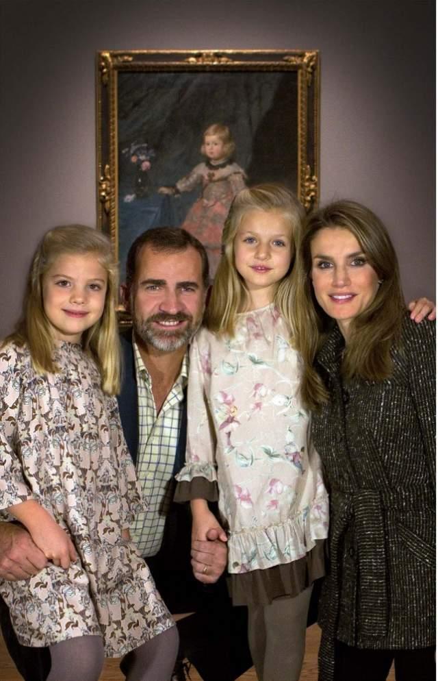 Король Испании Филипп и королева Летиция - родители 12-летней инфанты Леонор и 10-летней инфанты Софии.