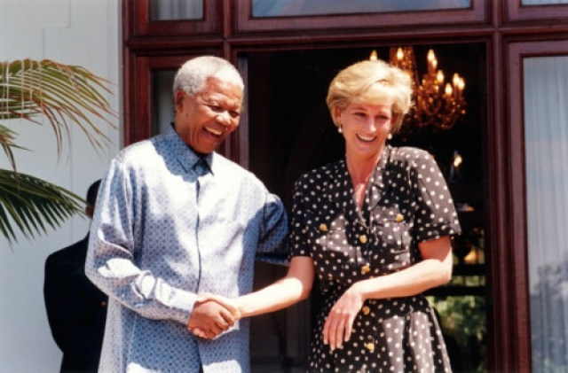 Нельсон Мандела и принцесса Диана.