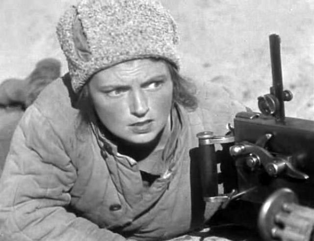 Варвара Мясникова сыграла Анку-пулеметчицу .