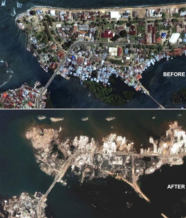 Было разрушено около 90 % глиняных строений исторического города. В итоге правительство Ирана решило создать новый город, вместо разрушенного старого.
