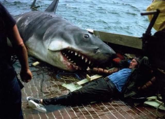 """Роберт Шоу и Ричард Дрейфус Великий фильм Стивена Спилберга """"Челюсти"""" славу свою снискал не только благодаря динамичным сценам с акулой, но и не в последнюю очередь за счет отношений между рыбаком-простаком Квинтом и высокомерным морским биологом Хупером, героями Роберта Шоу и Ричарда Дрейфуса."""