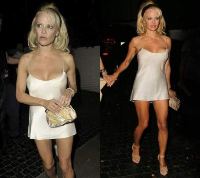 Памела Андерсон Случается и так, что надеваешь вроде бы приличное и дорогое платье, а окружающие его не видят. Говорят, мол, платья-то нет вовсе, а вместо него - ночная сорочка, не иначе.
