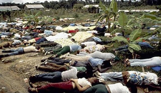 18 ноября 1978 года в джунглях Гайаны около 1000 граждан США совершили суицид. До сих пор о причине их смерти нет достоверных данных.
