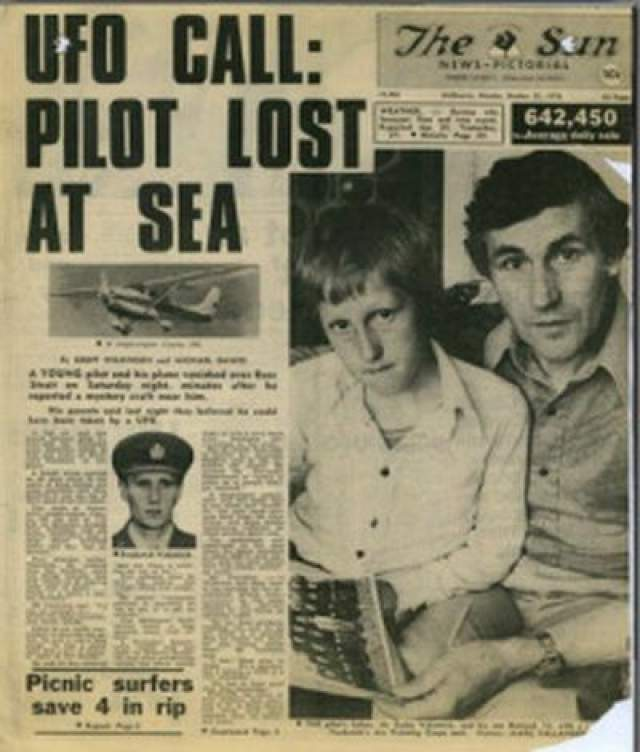 По словам пресс-секретаря Королевских военно-воздушных сил Австралии, в день исчезновения Валентинича было зафиксировано около 10 случаев наблюдения НЛО.