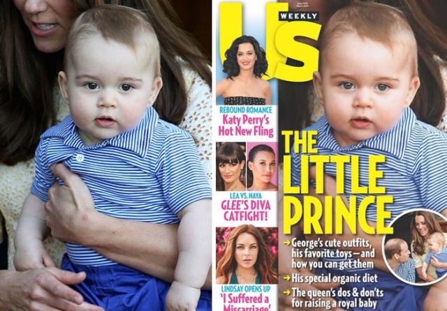 Принц Джордж. Редакторы журнала не пожалели даже младенца.