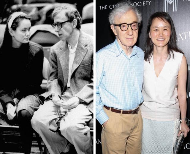Вуди Аллен Сун-И Превин (разница - 35 лет). Режиссер стал фигурантом скандала о совращении малолетних, когда всплыли его отношения с приемной дочерью. Та, в свою очередь, указала на то, что никогда не рассматривала Вуди как отца.