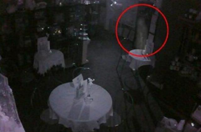 Фото из Чайной в Австралии. Владелец Дэн Клиффорд сообщил, что датчик движения среагировал на что-то поздно ночью, и это то, что он нашел на камере видео наблюдения.
