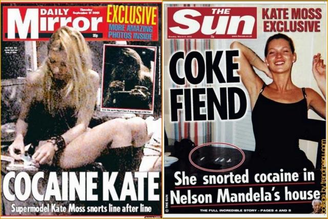 Одним из громких случаев стало фото с кокаином за кулисами, из-за которого многие разорвали с Кейт контракты.