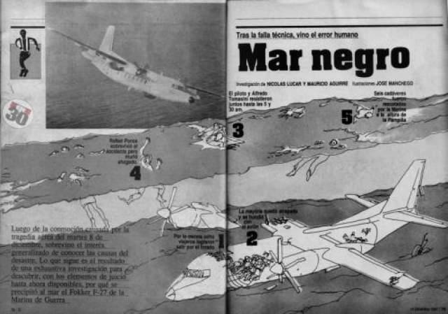 """Выжил только пилот 7 декабря 1987 года Место катастрофы: Лима Команда: ФК """"Альянса"""" В истории одной из самых известных перуанских команд """"Альянсы"""" есть черный день - 7 декабря 1987 года. Команда возвращалась домой после очередного матча первенства страны, но лайнер в котором находилось 43 человека - футболисты, тренеры, персонал, - разрушился при заходе на посадку и рухнул в море. Чудесным образом спасся лишь один человек - пилот самолета."""