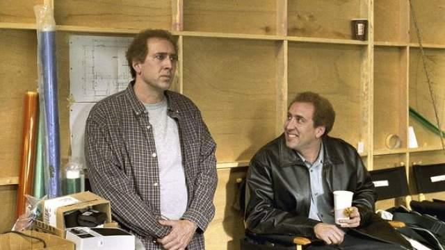 """Николас Кейдж, """"Адаптация"""" (2002). Это фильм о братьях-близнецах, которые одинаковы внешне, но разные внутри. Один - сомневающийся в себе, но талантливый неудачник, а второй - не такой одаренный, но коммерчески более успешный мужчина."""