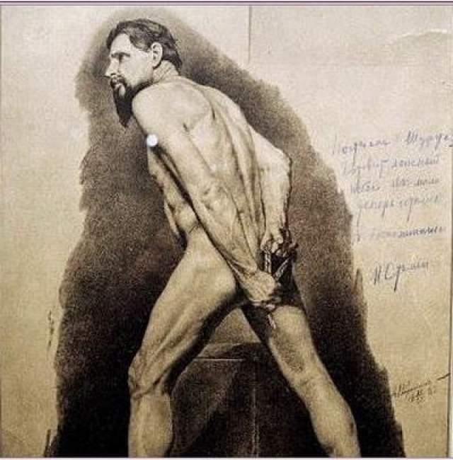 Другим его увлечением была графика с изображением обнаженных мужчин. На полях рисунков он оставлял замечания и комментарии.