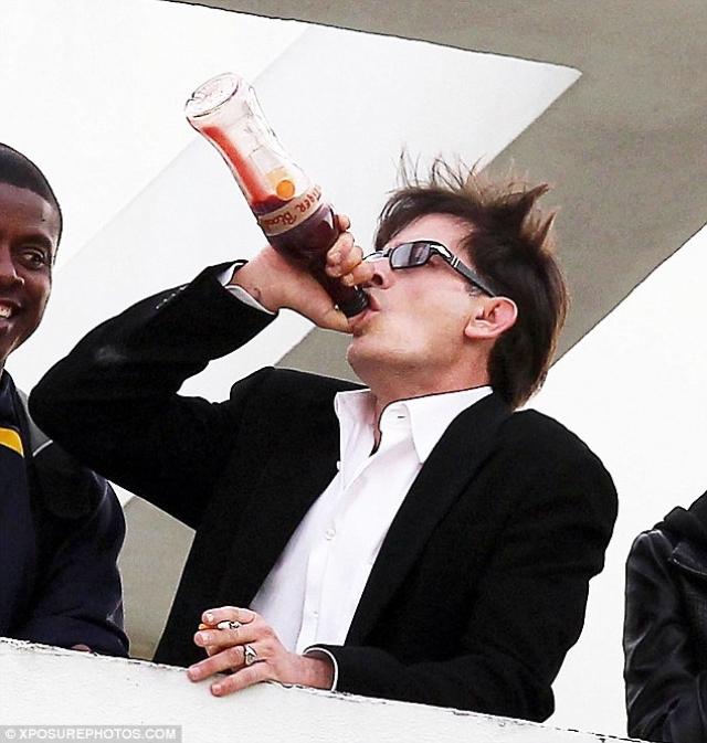 """С тех пор его пьяные похождения не сходят со страниц таблоидов. Сценаристам надоели скандалы и пьяные выходки Шина на съемочной площадке, и в конце восьмого сезона успешного шоу """"Два с половиной человека"""" они """"убили"""" героя Чарли и разорвали с актером контракт."""
