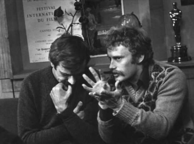 Разговор по душам. Н. Михалков и Д. Ольбрыхский. Автор: Кмит Галина, 1970 год
