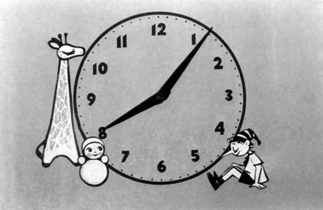 Тогда передача выходила в эфир в разное время, и автор заставки, художник Ирина Власова, каждый раз выставляла время заново.